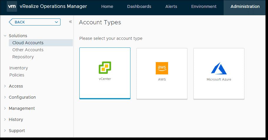 Resultado de imagen de create account vrops 8.0.1